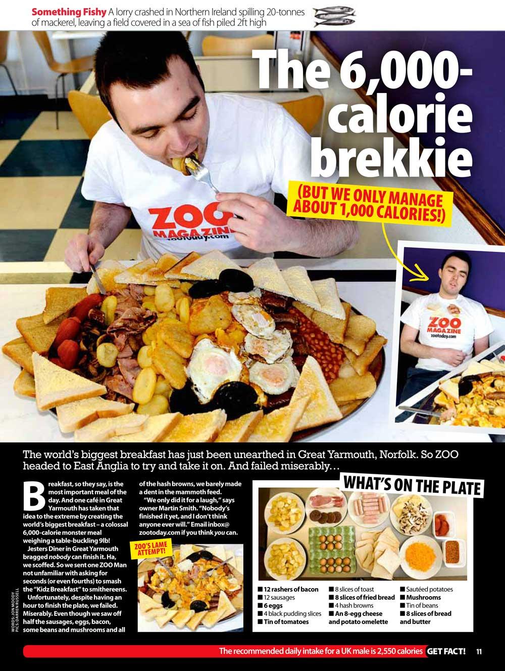 zoo breakfast challenge